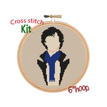 Sherlock Holmes Cross Stitch Kit.  Cross Stitch Kit. Modern Cross Stitch.