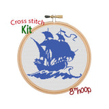 Ship cross stitch kit