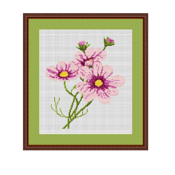 Summer Flowers Cross Stitch Pattern