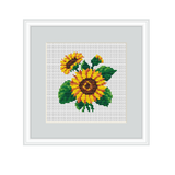 Sunflowers Cross Stitch Pattern.