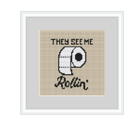 They See Me Rollin Cross Stitch Kit