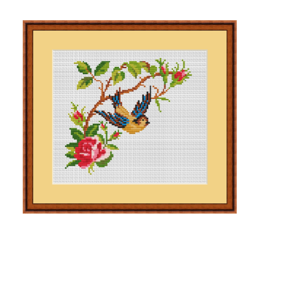 The Bird And The Flower Cross Stitch Pattern