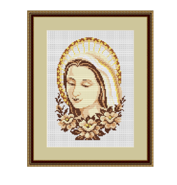 Madonna Cross Stitch Pattern