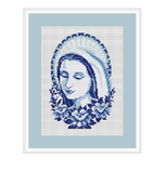 Virgin Mary. Madonna Cross Stitch Pattern. Holy Mary Cross Stitch Pattern.
