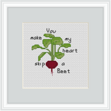 You make my heart skip a Beet Cross Stitch Kit