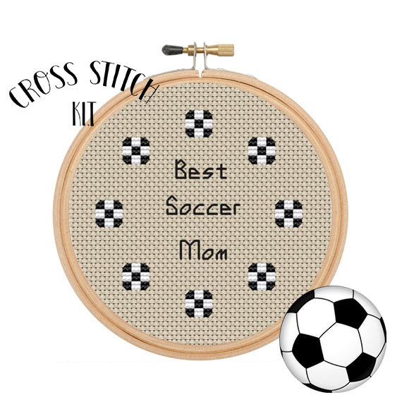 Best Soccer Mom cross stitch kit