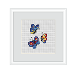Butterflies Cross Stitch Pattern.