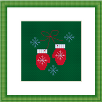 Christmas Mittens Cross Stitch Kit