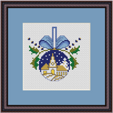 Church Christmas Ornament Cross Stitch Kit