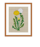 Dandelion Cross Stitch Pattern. Instant Download.