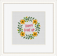 Don't Give Up Cross Stitch Kit. Motivational Cross Stitch Kit. Modern Cross Stitch.