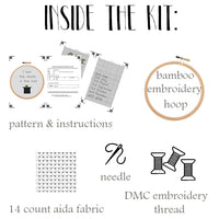 funny cross stitch kit