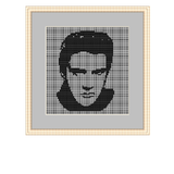 Plastic Canvas Elvis Presley Cross Stitch Pattern
