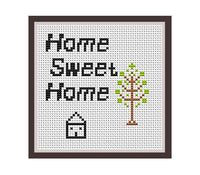 Home Sweet Home Cross Stitch Pattern.