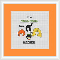 It's Hocus Pocus Time Witches Cross Stitch Kit
