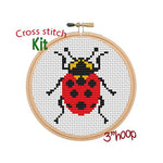 Ladybug Cross Stitch Kit