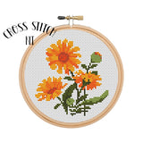 "Marigold 6"" Hoop Cross Stitch Kit"