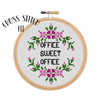 Office Sweet Office Cross Stitch Kit