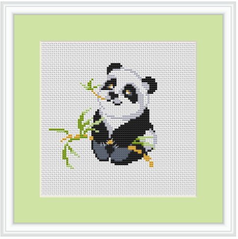 Panda Cross Stitch Pattern