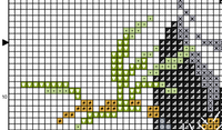 Panda Cross Stitch Pattern. Funny Bear PDF Pattern.