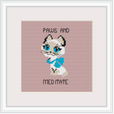 Paws And Meditate Cross Stitch Kit