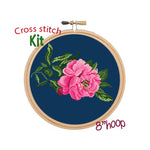 Peony Counted Cross Stitch Kit.