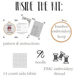 Teaching Is My Jam Cross Stitch Kit. Funny Saying Cross Stitch. Modern Embroidery.