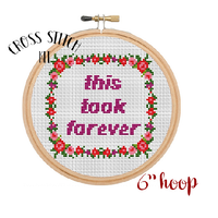 This Took Forever Cross Stitch Kit