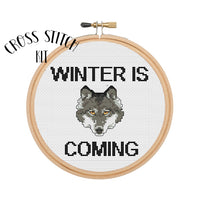 Winter Is Coming Cross Stitch Kit