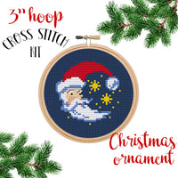 Winter Moon And Stars Cross Stitch Kit