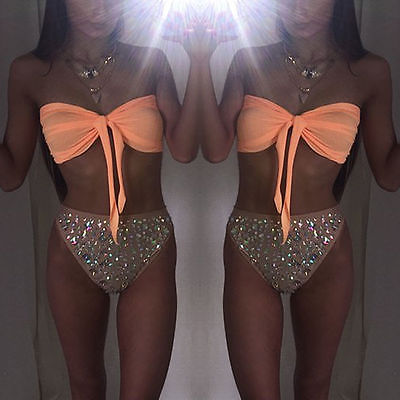 Clever Kittens Peach Sparkle Time Bikini