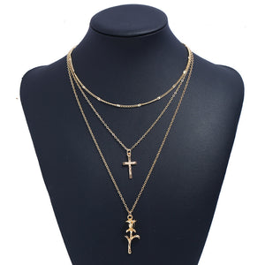 Forever or Nothing Rose Cross Pendant