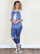 """All You Need is Love and a Dog"" T-shirt, Raglan with Striped Sleeves"