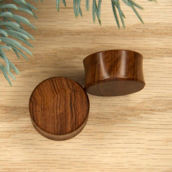 "1"" Double Flared Olive Wood Plugs"