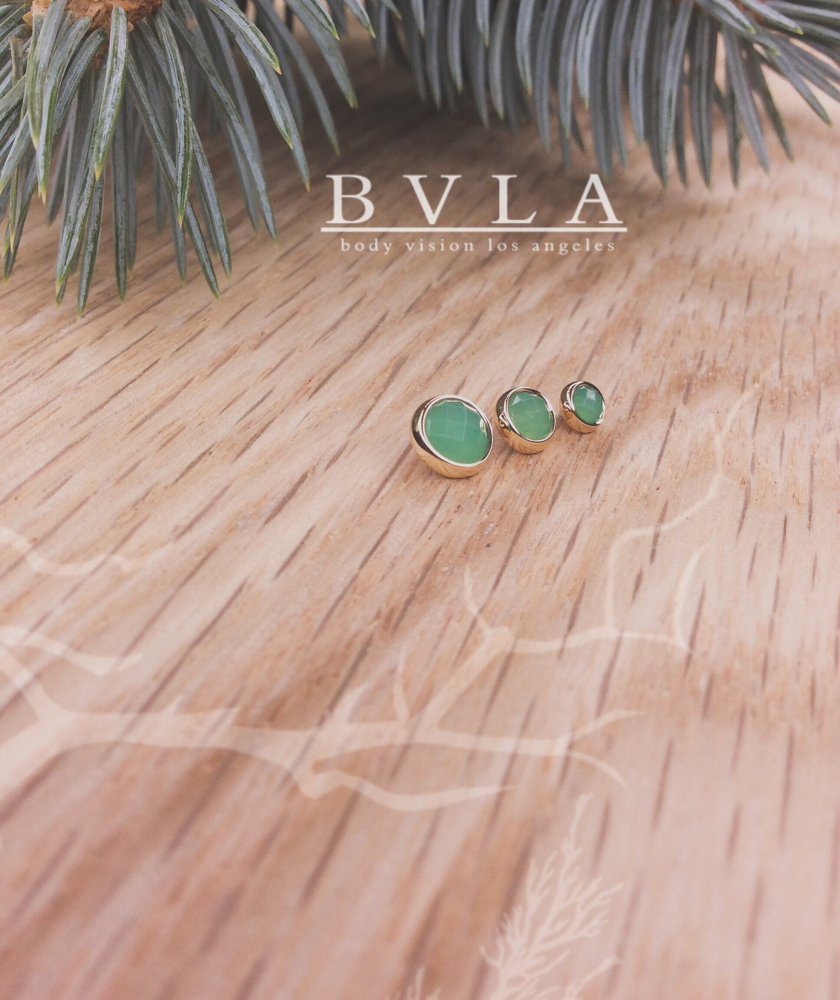 5mm Yellow Gold Rose Cut Chrysoprase End