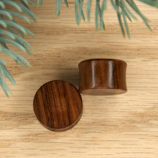7/16 Double Flared Olive Wood Plugs