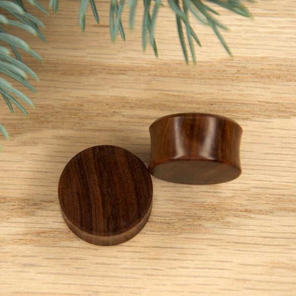 9/16 Double Flared Olive Wood Plugs