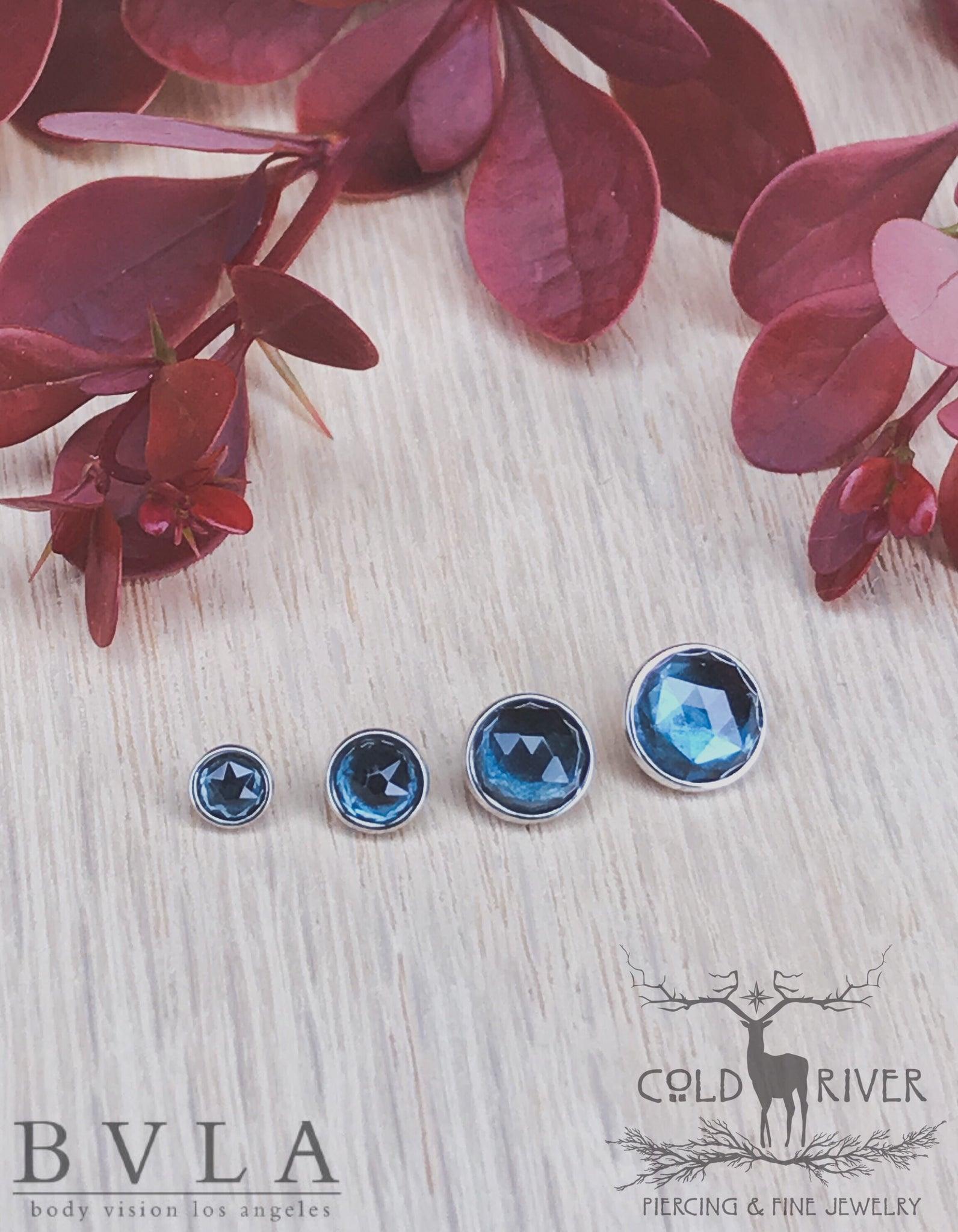 3mm White Gold Rose Cut London Topaz