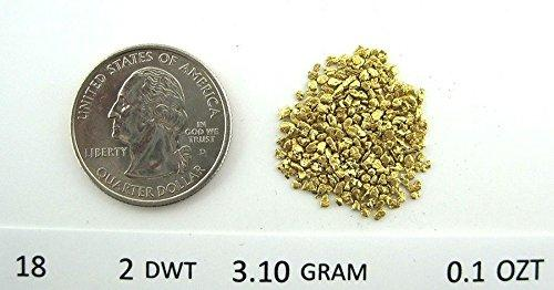 Alaskan Yukon Gold Rush Nuggets 18-16 Mesh 1/10 Troy Oz 3.1 Grams Or 2 Dwt Bc Flake