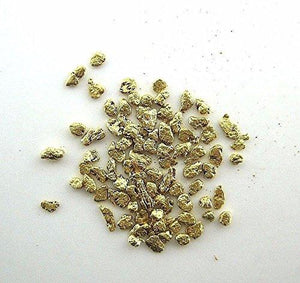 Alaskan Yukon Gold Rush Nuggets #25-20 Mesh 1 Gram-Of Fines Bc Flake