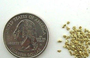 Alaskan Yukon Gold Rush Nuggets #20 Mesh 2 Grams Of Small Fines Bc Flake