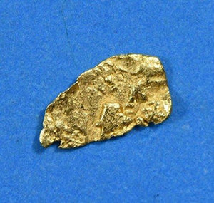 Alaskan-Yukon Bc Gold Rush Natural Nugget 0.11 Grams Genuine Alaska .10-.34