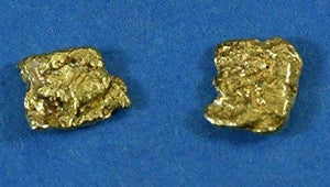 Alaskan-Yukon Bc Natural Gold Nugget Stud Earrings .60 To .70 Grams Alaskan