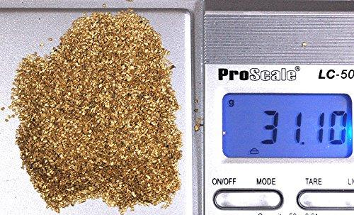 Alaskan Yukon Gold Rush Nuggets #30 Mesh 5 Troy Oz 155.5 Grams Or 100 Dwt Bc Flake