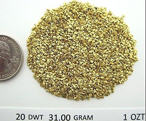 Alaskan Yukon Gold Rush Nuggets #20 Mesh 1 Troy Oz 31.1 Gram 20 Dwt Authentic Bc Flake