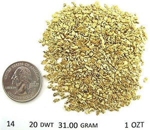 Alaskan Yukon Gold Rush Nuggets 14-12 Mesh 10 Troy Ounce Bc Flake