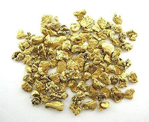 Alaskan Yukon Bc Gold Nuggets 4-12 Mesh 10 Grams Mixed Lot Of Gold Flakes Flake