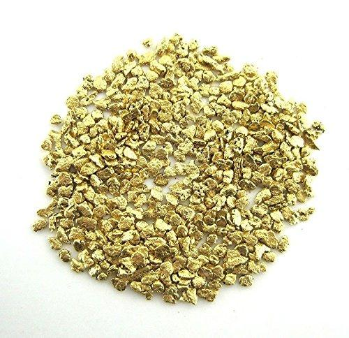 Alaskan Yukon Gold Rush Nuggets #25 Mesh 1/10 Troy Oz 3.1 Grams Or 2 Dwt Bc Flake