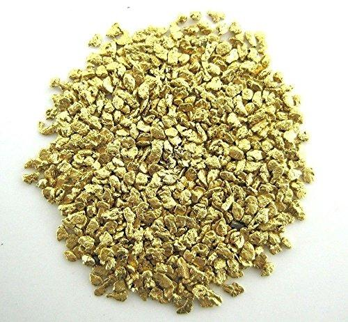 Alaskan Yukon Gold Rush Nuggets 18-16 Mesh 1/4 Troy Oz 7.75 Grams Or 5 Dwt Bc Flake