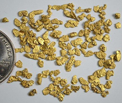 Alaskan Yukon Gold Rush Nuggets 12-10 Mesh 5 Grams Bc Flake